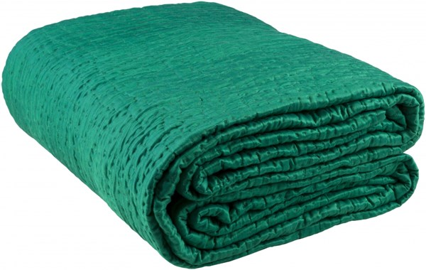 Albany Emerald/Kelly Green Cotton Silk King Quilt - 92x108 ALB2006-K