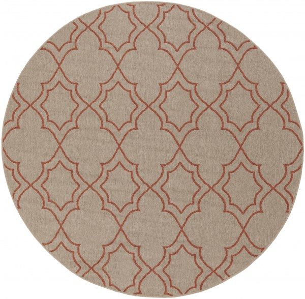 Alfresco Taupe Cherry Polypropylene Round Area Rug (L 87 X W 87) ALF9588-73RD