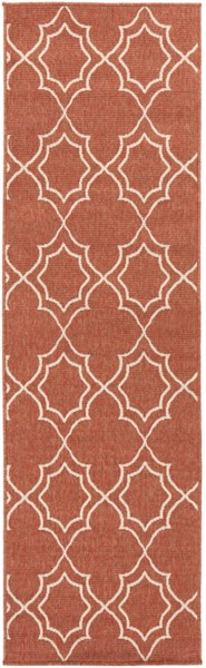 Alfresco Cherry Ivory Polypropylene Geometric Runner (L 93 X W 27) ALF9591-2379