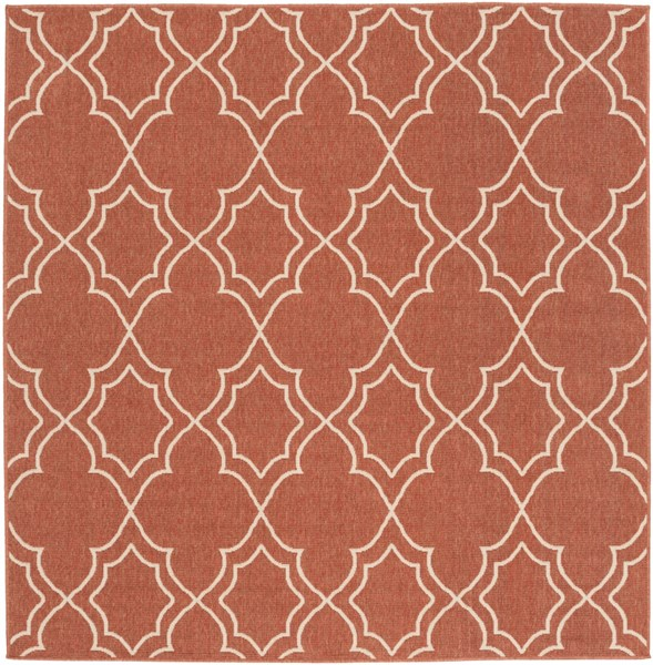 Alfresco Ivory Cherry Polypropylene Square Area Rug (L 87 X W 87) ALF9591-73SQ