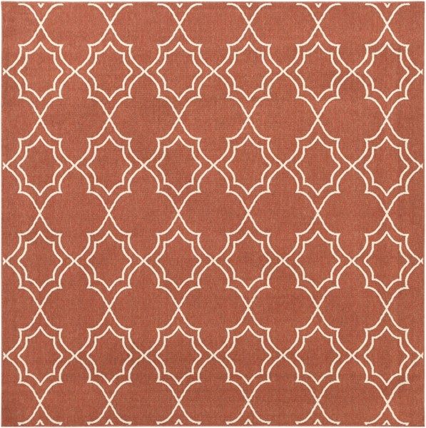 Alfresco Ivory Cherry Polypropylene Square Area Rug (L 105 X W 105) ALF9591-89SQ
