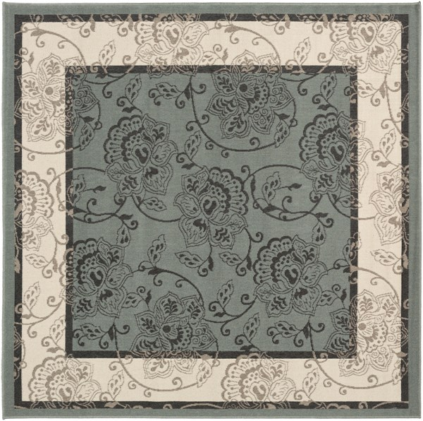 Alfresco Moss Ivory Taupe Polypropylene Square Area Rug (L 87 X W 87) ALF9594-73SQ
