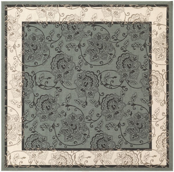 Alfresco Taupe Polypropylene Square Area Rug (L 105 X W 105) ALF9594-89SQ