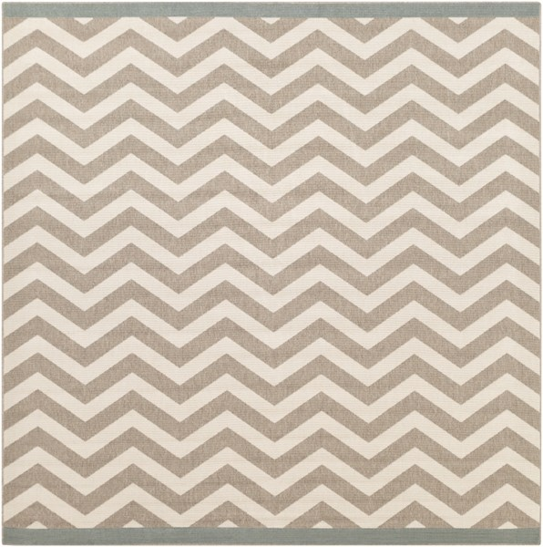 Alfresco Ivory Taupe Polypropylene Square Area Rug (L 105 X W 105) ALF9645-89SQ