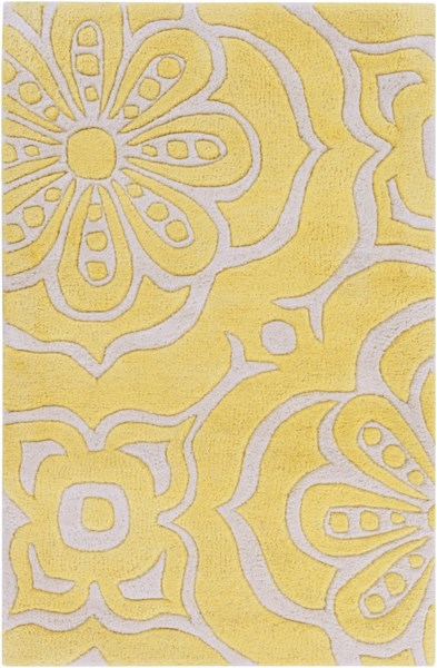 Alhambra Contemporary Ivory Gold Wool Area Rug (L 36 X W 24) ALH5005-23
