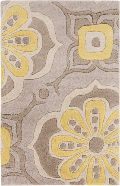 Alhambra Contemporary Gray Taupe Ivory Wool Area Rug (L 36 X W 24) ALH5010-23