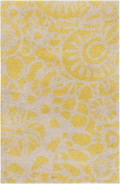 Alhambra Gold Ivory New Zealand Wool Area Rug - 24 x 36 1120-VAR1