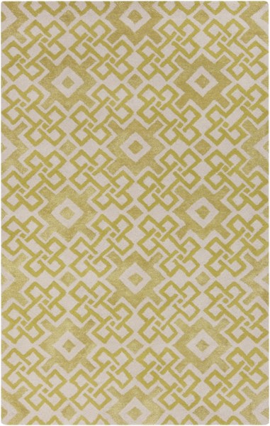 Alhambra Contemporary Lime Ivory Wool Area Rugs 12709-VAR1