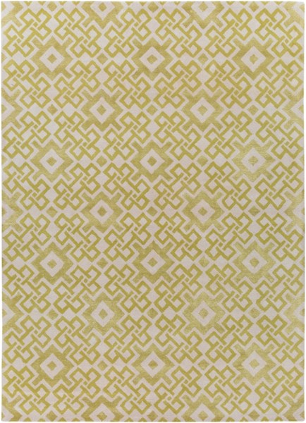Alhambra Contemporary Lime Ivory Wool Area Rug (L 132 X W 96) ALH5027-811