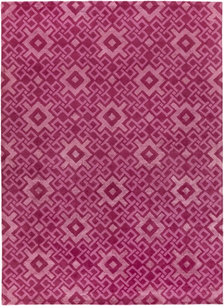 Alhambra Contemporary Pink Carnation Wool Area Rug (l 132 X W 96) ALH5028-811
