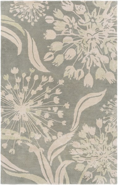 Alhambra Contemporary Moss Ivory New Area Rug (L 96 X W 60) ALH5030-58