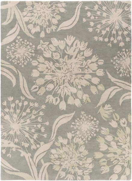Alhambra Contemporary Moss Ivory New Area Rug (L 132 X W 96) ALH5030-811