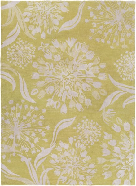 Alhambra Contemporary Lime Ivory New Area Rug (L 132 X W 96) ALH5032-811