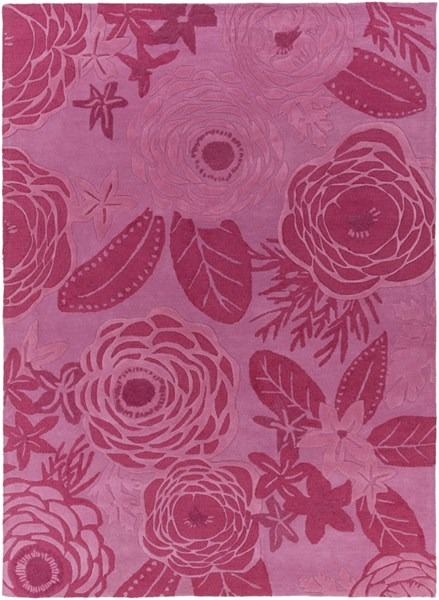 Alhambra Contemporary Hot Pink Carnation Wool Area Rug (l 132 X W 96) ALH5033-811