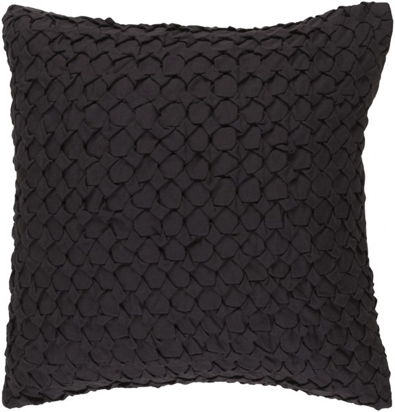 Ashlar Black Poly Linen Cotton Throw Pillow - 18x18x4 ALR001-1818P