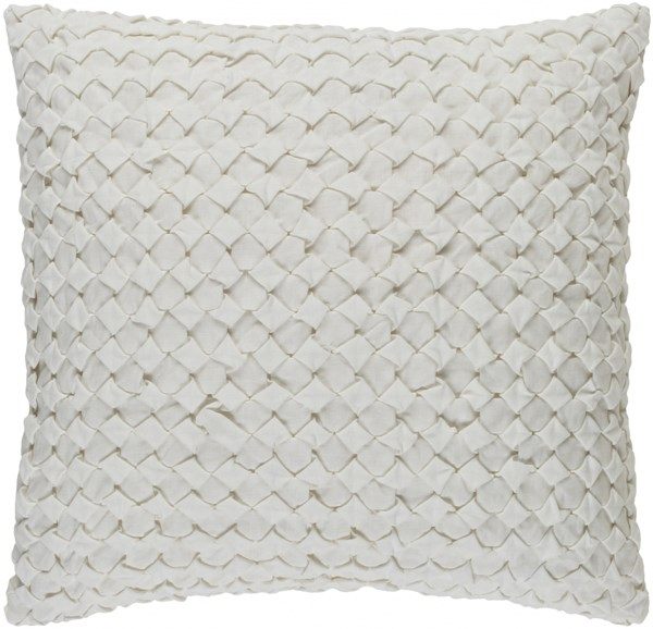 Ashlar Ivory Poly Linen Cotton Throw Pillow - 18x18x4 ALR004-1818P