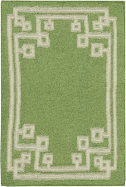 Alameda Lime Ivory Gray Wool Area Rug (L 36 X W 24) AMD1013-23