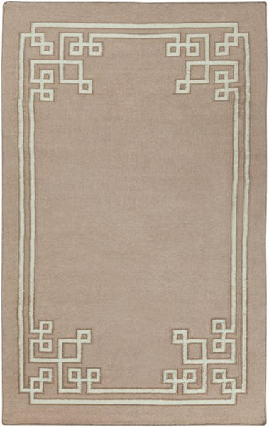Alameda Light Gray Taupe Wool Area Rug (L 96 X W 60) AMD1020-58