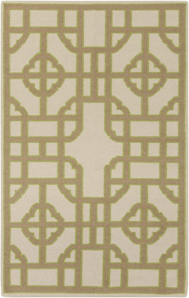Alameda Taupe Lime Light Gray Wool Area Rug - 60 x 96 AMD1079-58