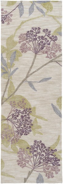 Ameila Beige Olive Eggplant Mauve Taupe Polyester Runner (L 90 X W 30) AME2224-2676