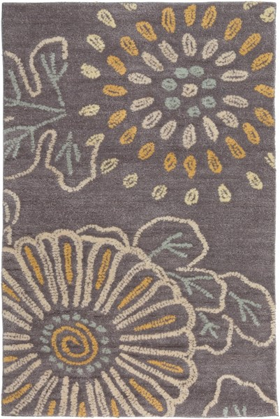 Ameila Contemporary Charcoal Blue Gray Polyester Area Rugs 1123-VAR1