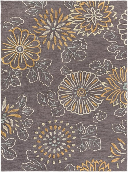 Ameila Charcoal Blue Ivory Gray Polyester Area Rug (L 132 X W 96) AME2230-811