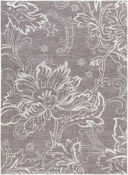 Ameila Taupe Charcoal Light Gray Polyester Area Rug (L 132 X W 96) AME2238-811