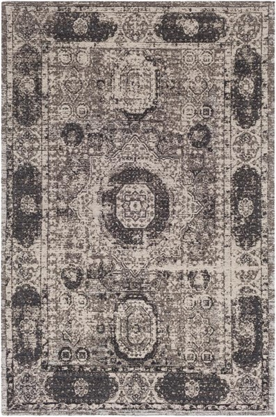 Surya Amsterdam Dark Brown Gray Ivory Chenille Polyester Area Rug - 90x60 AMS1012-576