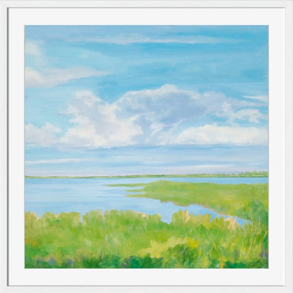 Surya Eternal Paper Marsh Land III Wall Art - 27x27 AN114A001-2727