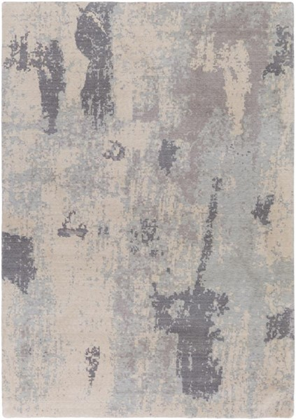 Surya Andromeda Medium Gray Pale Blue Ivory NZ Wool Area Rug - 90x63 ANM1005-5376