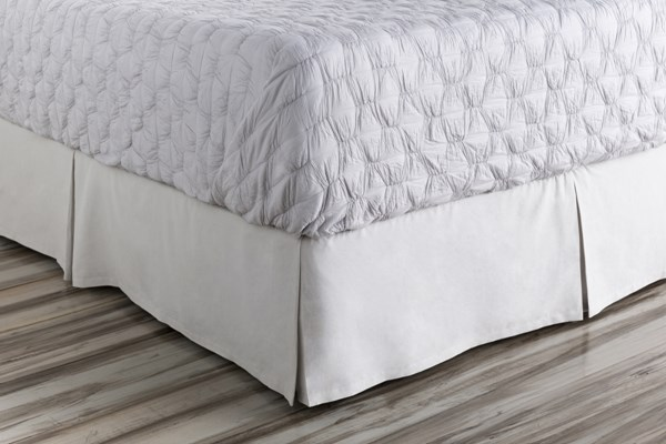 Anniston Slate Cotton California King Bed Skirt (L 84 X W 72 X H 15) ANN7001-CSKT