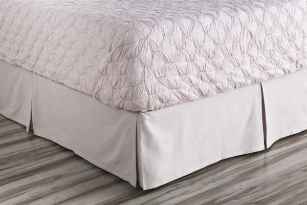 Anniston Plum Fabric Cotton Queen Bed Skirt (L 80 X W 60 X H 15) ANN7002-QSKT