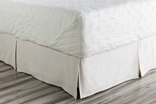 Anniston Natural Fabric Cotton Twin Bed Skirt (L 76 X W 39 X H 15) ANN7004-TSKT