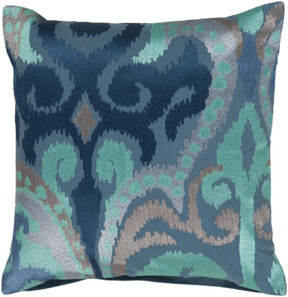Ara Sky Blue Cobalt Lavender Down Polyester Throw Pillow - 22x22x5 AR075-2222D