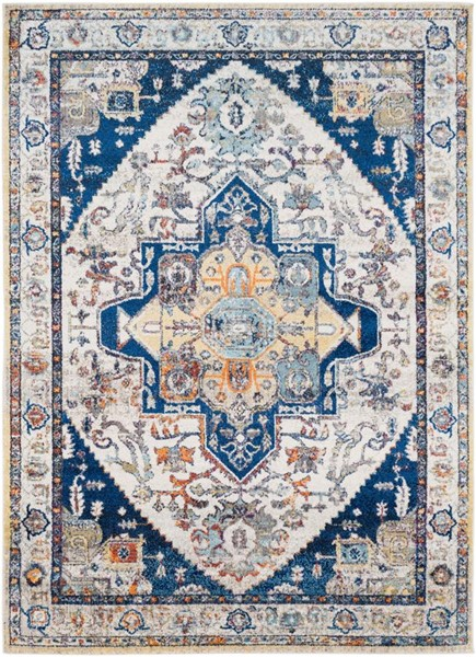 Surya Ararat Dark Blue Charcoal White Polypropylene Area Rug - 123x94 ARA2305-710103