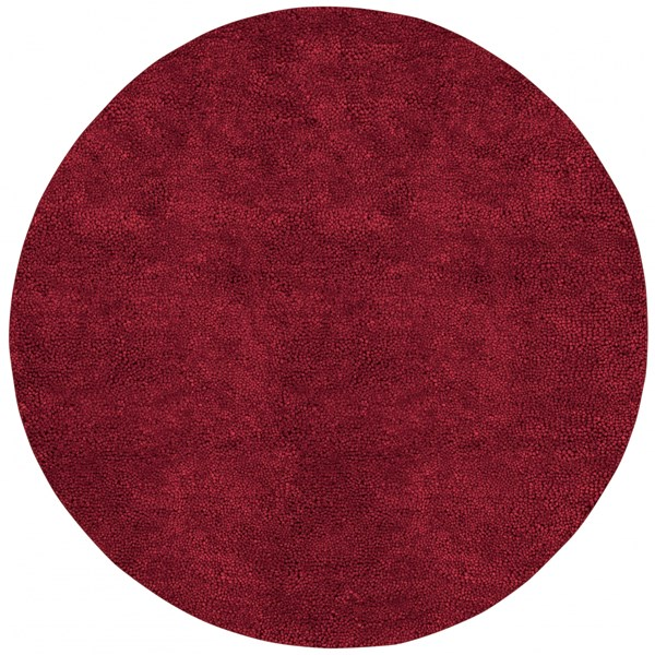 Aros Burgundy Wool - Felted Round Area Rug - 96 x 96 AROS1-8RD