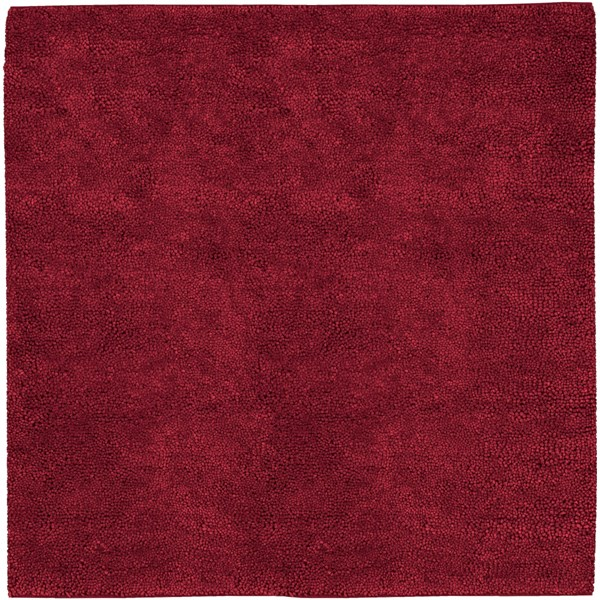 Aros Burgundy Wool - Felted Square Area Rug - 96 x 96 AROS1-8SQ
