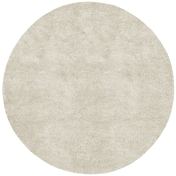 Aros Ivory Wool - Felted Round Area Rug - 96 x 96 AROS2-8RD