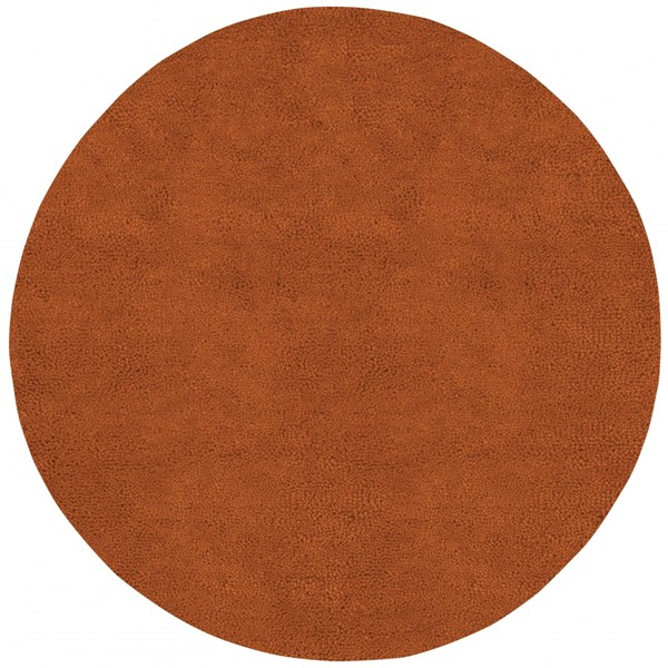 Aros Rust Wool - Felted Round Area Rug - 96 x 96 AROS5-8RD