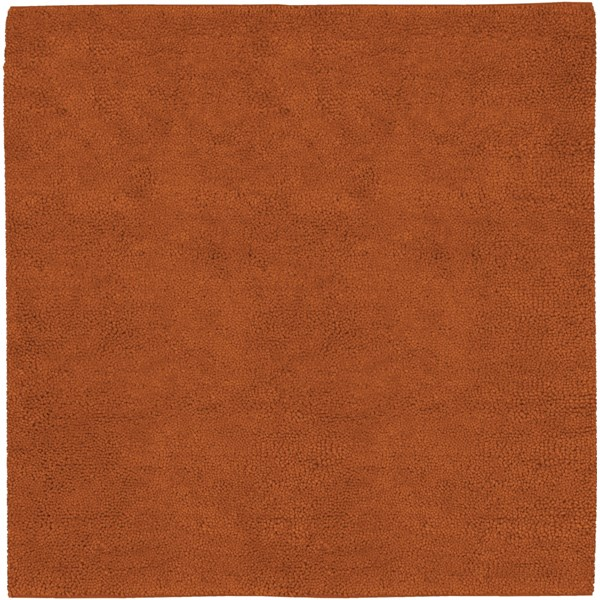 Aros Rust Wool - Felted Square Area Rug - 96 x 96 AROS5-8SQ