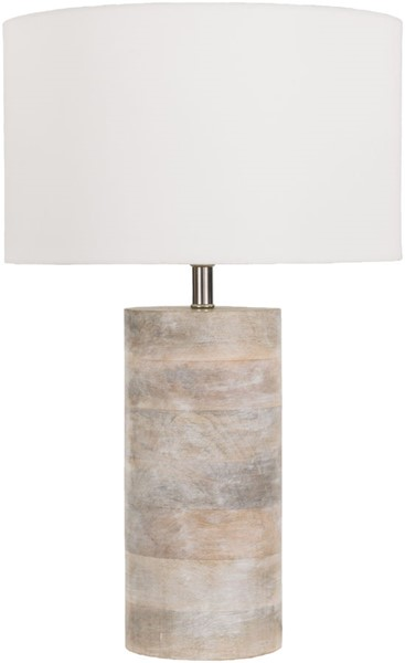 Surya Arbor White Wood Table Lamp - 11.81x19 ARR970-TBL