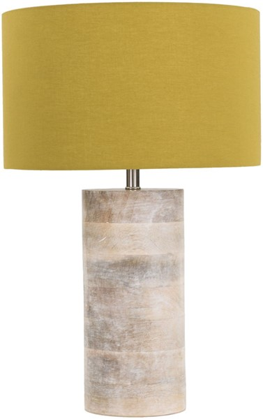 Surya Arbor Mustard Wood Table Lamp - 11.81x19 ARR971-TBL