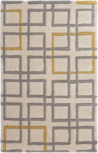 Artist Studio Contemporary Gray Beige Gold Wool Area Rugs 1161-VAR1