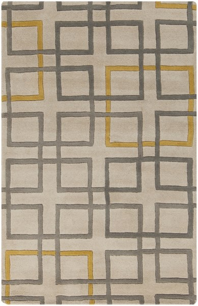 Artist Studio Gray Beige Gold New Zealand Wool Area Rug - 39 x 63 ART231-3353
