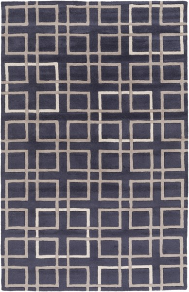 Artist Studio Navy Taupe Ivory New Zealand Wool Area Rug - 60 x 96 ART237-58