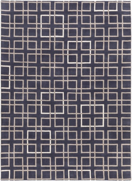 Artist Studio Navy Taupe Ivory New Zealand Wool Area Rug - 96 x 132 ART237-811