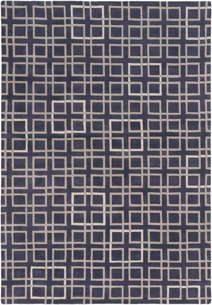 Artist Studio Navy Taupe Ivory New Zealand Wool Area Rug - 108 x 156 ART237-913