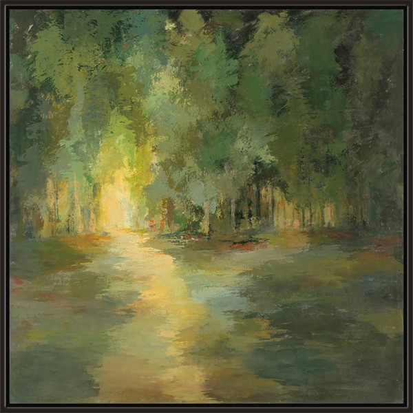 Surya Eternal Canvas Forrest Light Wall Art - 42x42 AS123P001-4242