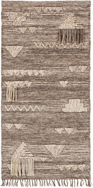 Surya Asher Gray Wool Fringe Wall Hangings - 30x60 ASE3000-265