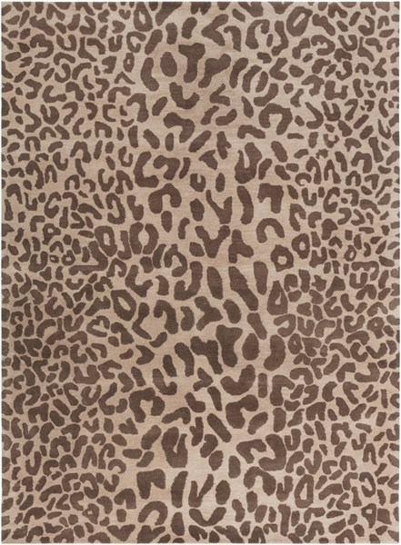 Athena Taupe Chocolate Wool Area Rug - 96 x 132 ATH5000-811